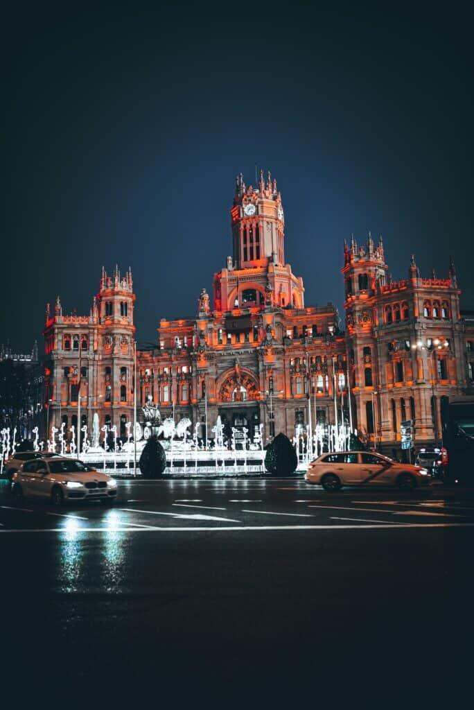 Palacio de Cibeles, Plaza Cibeles, Madrid, España