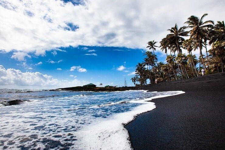 Praia Punaluu Havai